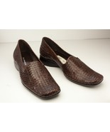 Enzo Angiolini 8.5 Narrow  Brown Loafers Women's Weaved Loafers - $47.37