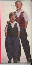 McCalls 6082 Children's and Boys' Shirt, Vest and Pants Size 8, 10, 12, ... - $3.00