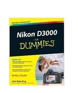 Nikon D3000 For Dummies [Paperback] Julie Adair... - $10.80