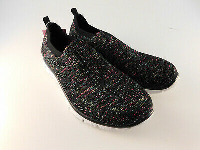 Skechers Air Cooled Memory Foam Empire Inside Look Black Walking Shoes - 7.5