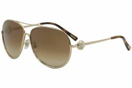 Chopard Aviator Sunglasses SCHB23S 0377 Rose Gold /Gold Mirrored Lens 62mm - $169.75