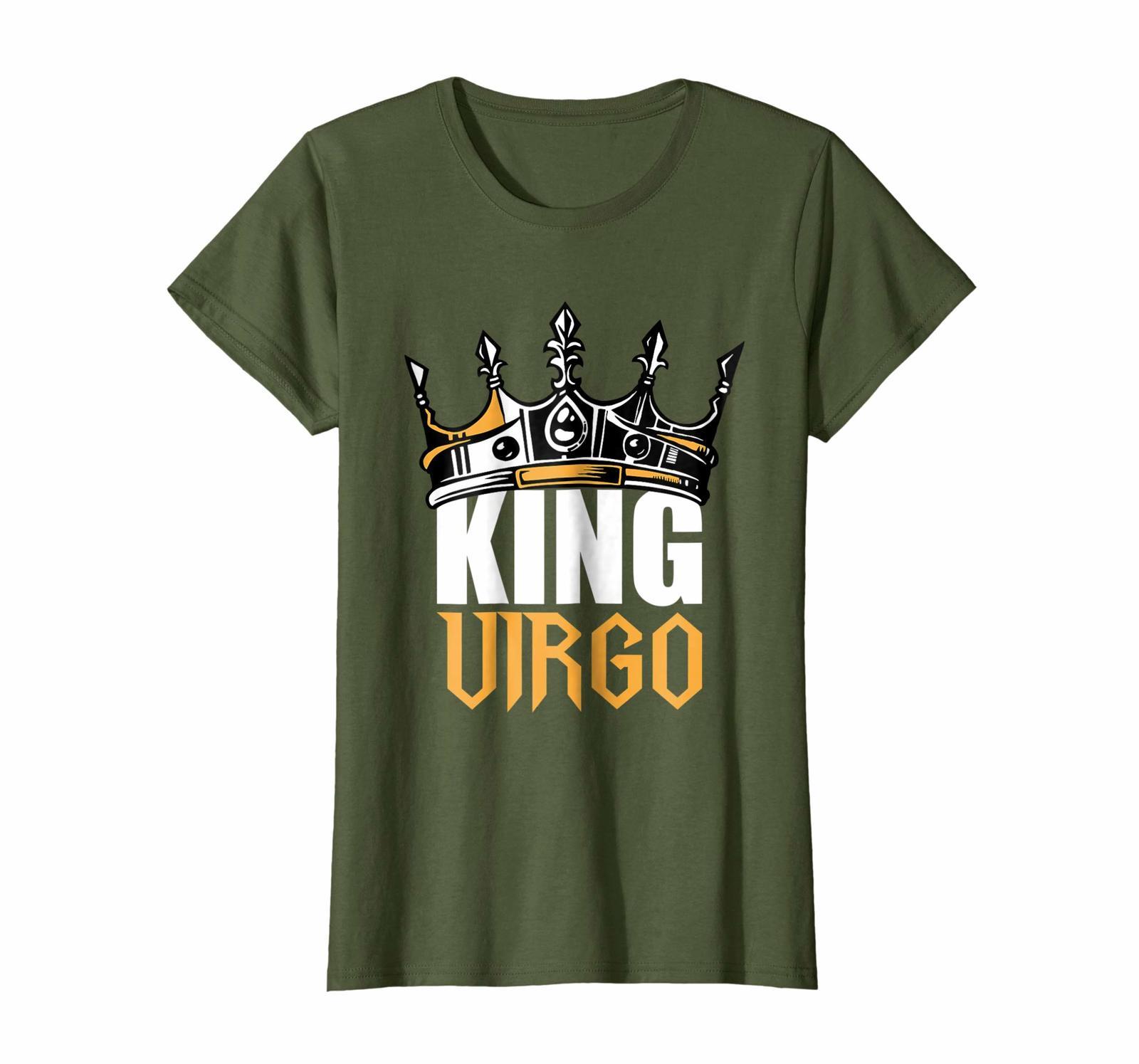 Funny Happy birthday T-Shirt - Virgo Birthday Gifts - King Virgo Zodiac T-Shirt