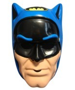 BLUE DC COMICS BATMAN HALLOWEEN MASK PVC KID SIZE ONE SIZE FITS MOST - £7.10 GBP