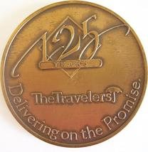 TRAVELERS INSURANCE 125 Year Annivesary Mark/Medallion/Coin 1864-1989 - $31.77