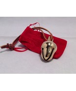 Polar shiny gold brass acorn Santa reindeer  sleigh bell Express from El... - $34.64