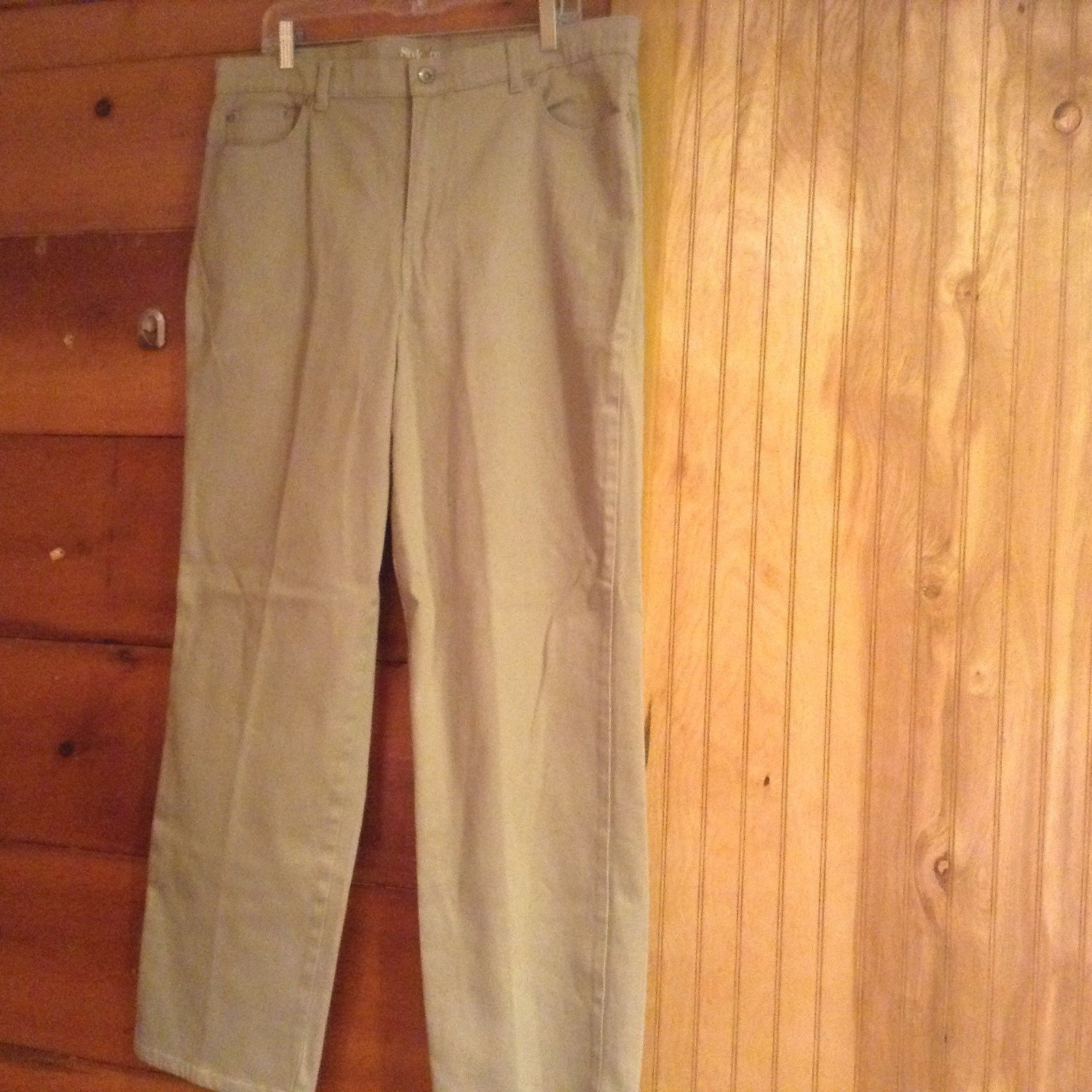 Style and Company Easy Fit Light Brown Jeans Front Back Pockets Size 18