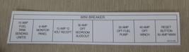 "RV Decal ""Mini Breaker"" Self Adhesive Size: 1 3/4"" X 9"" #03213112B UPC:7... - $6.44"