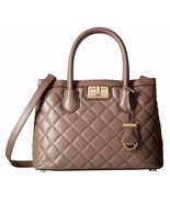 NWT Michael Kors Hannah Medium Leather Satchel ... - $256.49