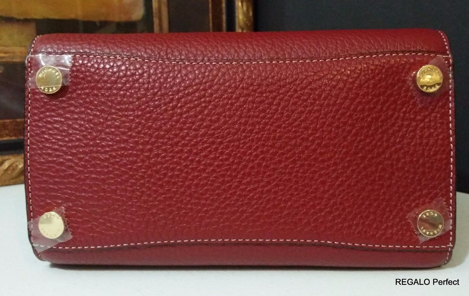 NWT Michael Kors Selby Medium Top Zip Leather Satchel Cherry 30H5GEYS2L $358