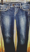 SILVER TUESDAY FLAP POCKET SLIM BOOT CUT WOMEN'S JEANS   26 X 32.5 - $28.71
