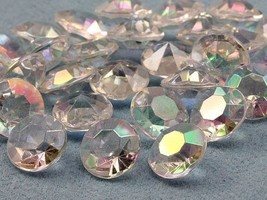 7mm 1 1/4 Carat Diamond Confetti AB Coating For Table Scatter 500/CNT - $9.21