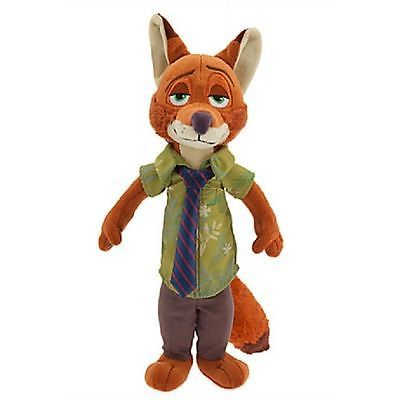 "Disney Store Zootopia Nick Wilde Sly Fox 13"" Plush Stuffed Animal"