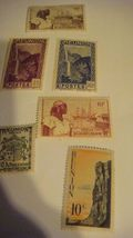Reunion French Guadaloupe Poste Stamps, Six of Them, Never Struck, But H... - $17.99