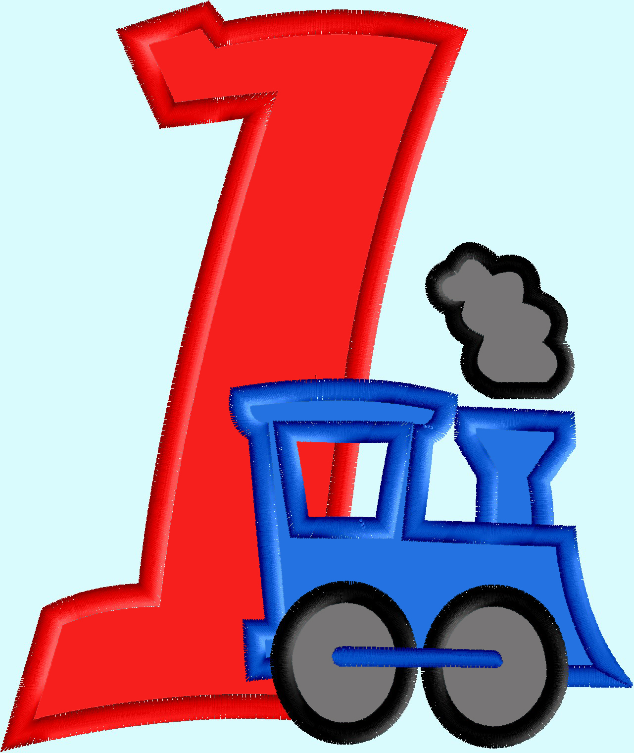 Train Applique With Numbers 1 3 3 Designs And 22 Similar Items