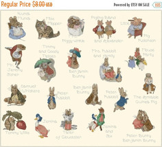 """Counted Cross Stitch  B. potter's characters 30.79""""X25.86""""  L1117 - $3.99"""