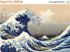Counted Cross Stitch Kanagawa Hokusai great wave 386 x 266 stitches BN1109 - $3.99