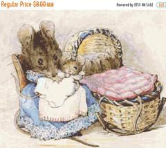 "Cross stitch pattern - ratoncitos by B. potter  14.14""X11.79"" L941 - $3.99"