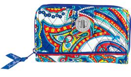 Nwt Vera Bradley Marina Paisley Turnlock Wallet  - $33.70