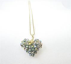 Golden Chain Handmade Swarovski Vitral Crystals Pendant Necklace - $27.03