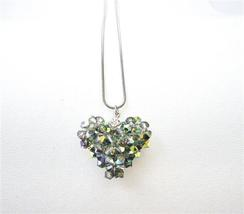 Handmade Swarovski Crystals Vitral Medium Crystals Pendant Necklace - $27.03