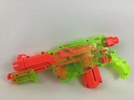 Sonic Praxis Nerf Vortex Disc-Launching Clear Green Gun with Darts Clip Hasbro - $26.68