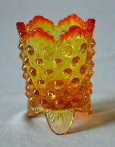 Fenton Glass Hobnail Orange Toothpick Holder #3795 OR  Listing 3 - $9.90