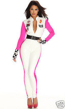 Sexy Forplay Seductive Speed Race Car Driver Jumpsuit Catsuit Costume 3pc Set - $57.99