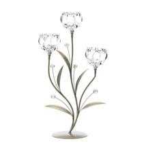 Crystal Flower Triple Candle Holder - $37.00