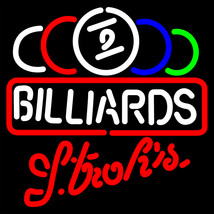 Strohs Ball Billiards Text Pool Neon Sign - $699.00