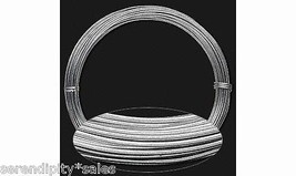 Anodized ALUMINUM CRAFT WIRE 16ga round SILVER 45 ft Coil ~ Flexible Wra... - $6.47