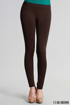 High Quality Ankle Length Solid Leggings In Dark Brown One Size - $28.00