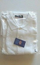 Catalina Bay Casual White Men's Shirt Size Large Short Sleeves Cool & Dry  - $17.99