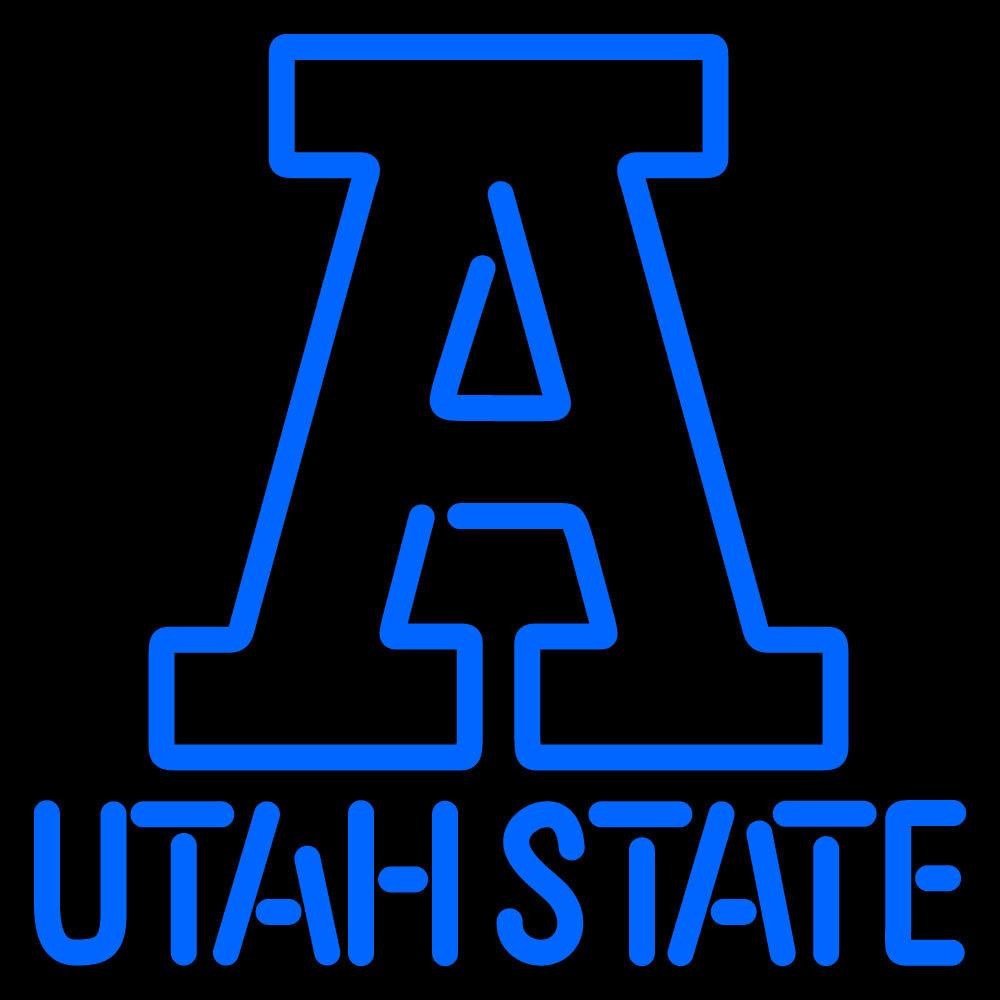NCAA Utah State Aggies Logo Neon Sign