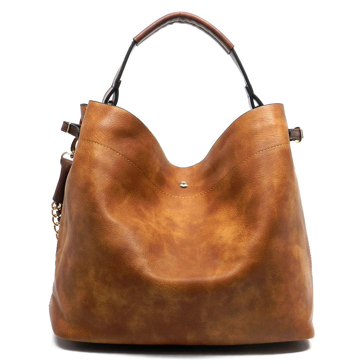 26e27ae105e2 Handbag Republic® 2-Strap Fringe Hobo w  Removable Interior Pouch- Blush