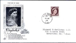"1954 Elizabeth ""Art Craft"" cachet, Ste. Rose 1 cent FDC - $5.89"