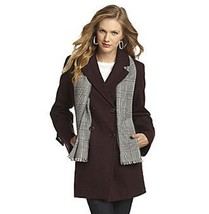 Forecaster Woman Double Breasted Black Wool Blend Jacket with Scarf - BN... - $94.05