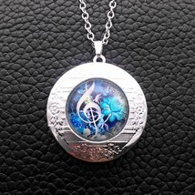 MUSIC MAJORS: CLEF CABOCHON LOCKET NECKLACE   (4103)  - $3.95
