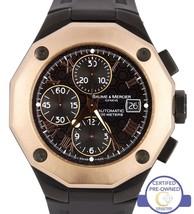 Men's Baume & Mercier Riviera XXL 18K Rose Gold PVD Chronograph Watch 8712 65585 - $4,993.94