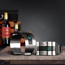 LCD Stainless Steel Wine Bracelet Thermometer Creative Wine Thermometer - $8.90