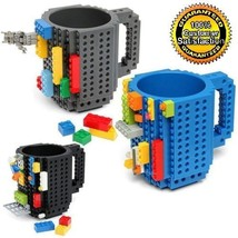 Mug DIY Creative Brick Building Blocks Coffee Cup Block Puzzle 12oz USA ... - $17.99