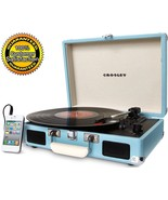 Turntable Portable Record Player Turquoise Viny... - $89.09