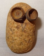 Vintage Owl Handmade Pet Rock Acorn Shell Eyes - $8.41