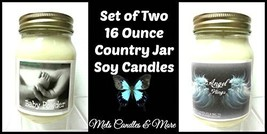 Baby Powder & Angel Wings- Set of Two 16oz All Natural Soy Candles [Kitc... - $26.99
