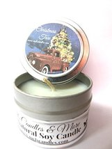 Christmas Tree - 4oz All Natural Soy Candle Tin Approximate Burn Time 36... - £4.27 GBP