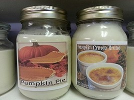Pumpkin Pie & Creme Brule- Set of Two 16oz All Natural Soy Candles [Kitc... - $26.99