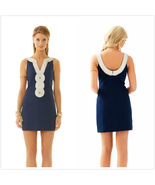 $198 Lilly Pulitzer Valli Shift Dress in True Navy  Size 2 4 6 8 Wedding Party  - $118.00