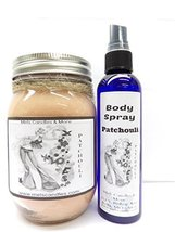Patchouli 16oz Soy Candle & 4oz Bottle of Scent Spray Combo Deal [Kitchen] - €12,72 EUR