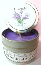 Lavender 4oz All Natural Soy Candle Tin Approximate Burn Time 36 Hours [... - $5.99