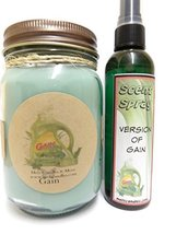 Gain Type - 16oz Soy Candle & 4oz Bottle of Scent Spray Combo Deal [Kitc... - €15,98 EUR