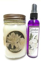 Gardenia COMBO 16oz Country Jar Soy Candle & 4oz Bottle of Scent Spray [... - €16,97 EUR